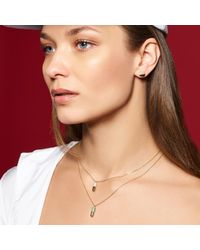 Candace Covelli - Multicolor Black Diamond Half Paved Capsule Necklace - Lyst