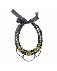 Ricardo Rodriguez Design - Black Flora Necklace - Lyst