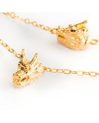 Ona Chan Jewelry | Metallic Five Dragon Necklace Yellow Gold | Lyst