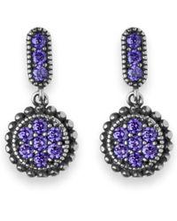 Platadepalo   Purple Zircon Stone & Silver Drop Earrings   Lyst