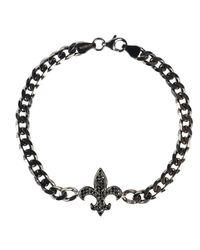 Latelita London - Metallic Mens Fleur-de-lis Bracelet Oxidised Sterling Silver for Men - Lyst
