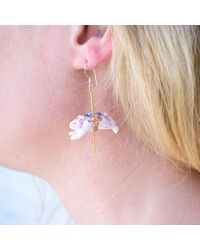 Hop Skip & Flutter - Pink Merry Go Round Porcelain Pig Drop Earrings - Lyst