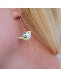 Hop Skip & Flutter | Multicolor Merry Go Round Porcelain Bird Drop Earrings | Lyst