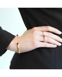 O.YANG - Multicolor Fuschia Antique Cuff Bracelet - Lyst