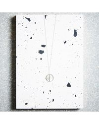 KIND Jewellery - Metallic Silver Eclipse Pendant Necklace - Lyst
