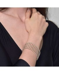 Cara Tonkin - Metallic Theda Stripe Cuff Gold - Lyst