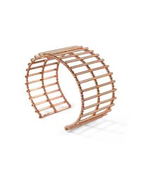 Cara Tonkin - Multicolor Theda Stripe Cuff Rose Gold - Lyst