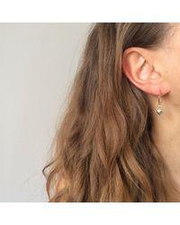 Agnes De Verneuil - Metallic Gold Tiny Hoop Earrings Heart - Lyst