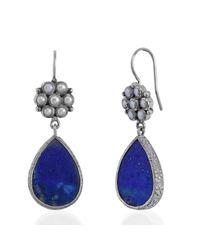 Emma Chapman Jewels | Blue Bellina Pearl And Lapiz Earrings | Lyst