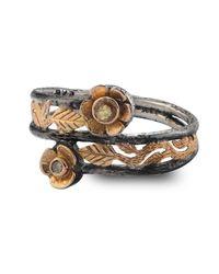 Emma Chapman Jewels | Metallic Freya Diamond & Sapphire Flower Ring | Lyst