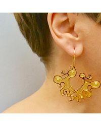 Nooneh London - Metallic Maya Statement Earrings Gold - Lyst