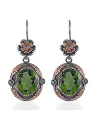 Emma Chapman Jewels - Green Orisha Peridot & Diamond Earrings - Lyst
