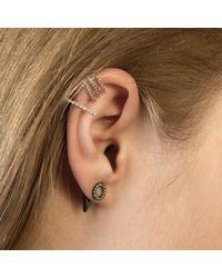 Astrid & Miyu - Metallic Circle Ear Jacket In Silver - Lyst