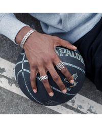 Serge Denimes - Metallic Silver Link Ring for Men - Lyst