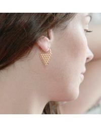 Agnes De Verneuil | Metallic Gold Earrings Jali Triangle | Lyst