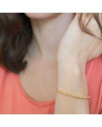 Agnes De Verneuil - Metallic Gold Cuff Bracelet Jali - Lyst