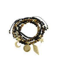 Essentia By Love Lily Rose | Metallic Courage Bracelet Stack Gold | Lyst