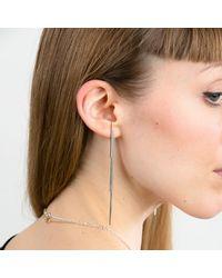 Marcia Vidal - Metallic Silver Lightning Earrings - Lyst