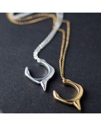 Kim Keohane - Metallic Gold Thorn & Claw Pendant - Lyst