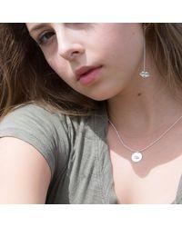 Kozminka - Metallic Long Sweet Kiss Earring With Sapphire Piercing - Lyst