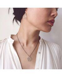 Dream of Songs - Metallic Hexagon Earrings Silver - Lyst