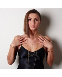 Alicia Marilyn Designs - Metallic Double Strand Disc Necklace - Lyst