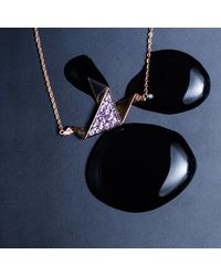 MKS JEWELLERY - Multicolor Pink Sapphire Dove Necklace - Lyst