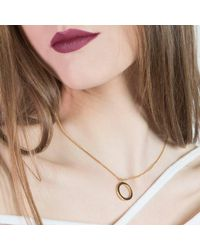 ANUKA Jewellery - Metallic Amati Gold Disc Necklace - Lyst