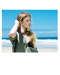 Wafa By Wafa - Multicolor Cream Holly Earrings - Lyst