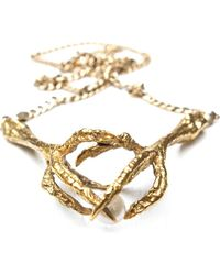 Tessa Metcalfe - Metallic Double Claw Necklace - Lyst