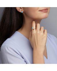Dione London | Multicolor Iris Arizona Turquoise & Rough Diamond Slice Ring | Lyst