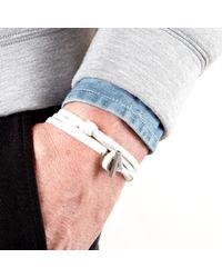 JAM MMXIV - White Shoestring Multi Wrap Bracelet for Men - Lyst