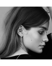 Rachel Entwistle - Metallic Modern Primitive Chain Earrings Silver - Lyst