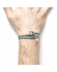 Anchor & Crew - Green Dash Union Rope Bracelet for Men - Lyst