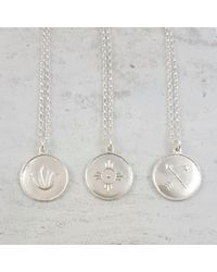 Essentia By Love Lily Rose - Metallic Sterling Silver Happiness Amulet Necklace - Lyst