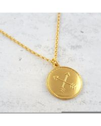 Essentia By Love Lily Rose - Metallic 18ct Gold Vermeil Friendship Amulet Necklace - Lyst
