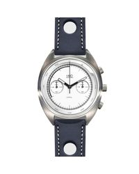 MHD Watches - Mhdcr1 Chronograph Watch With White Dial & Blue Strap for Men - Lyst