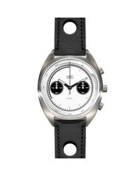MHD Watches | Mhd Cr1 Panda Dial Chronograph Watch With Black Strap for Men | Lyst