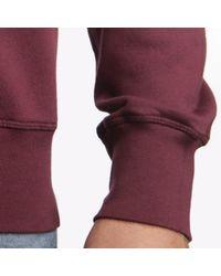 Tonn Surf - Red Organic Cotton Sweatshirt Wine for Men - Lyst
