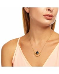 Ottoman Hands - Metallic Labradorite And Open Crescent Necklace - Lyst