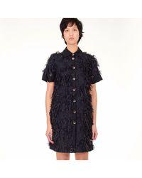 Acephala - Black Fringe Mini Dress - Lyst