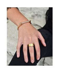 Opes Robur - Metallic Rose Gold & Silver Classic Screw Cuff Bracelet - Lyst