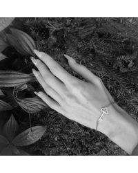 Latelita London - Metallic Key Bracelet Silver - Lyst