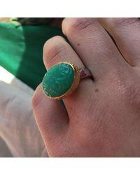 Emma Chapman Jewels - Green Bodhi Chrysoprase Ring - Lyst