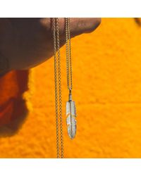 Serge Denimes - Metallic Ethereal Feather Necklace for Men - Lyst