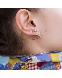 Sadekar Jewellery - Multicolor A Mixed Triangle Earrings White & Brown Diamonds - Lyst