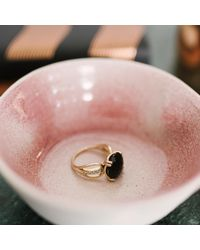 Monarc Jewellery - Metallic The Wing Me Ring 9ct Gold Onyx And Diamond - Lyst
