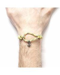 Anchor & Crew - Multicolor Yellow Dash Severn Rope Bracelet for Men - Lyst