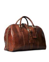 Maxwell Scott Bags - Brown Luxury Italian Leather Cabin Bag Farini Chestnut Tan for Men - Lyst