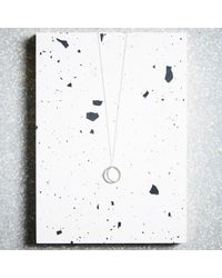 KIND Jewellery - Metallic Silver Crescent Lune Pendant Necklace - Lyst